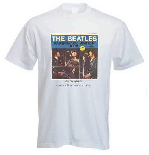 "Kaos bergambar album Beatles ""Paperback Writer"""